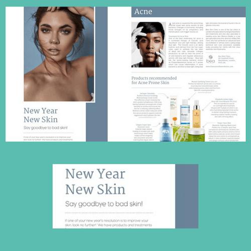 celebrity skincare secrets Curva magazine