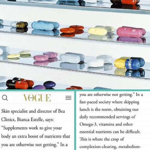 bea Skin Care featured in Vogue Dubai, December 2016, Press & Media