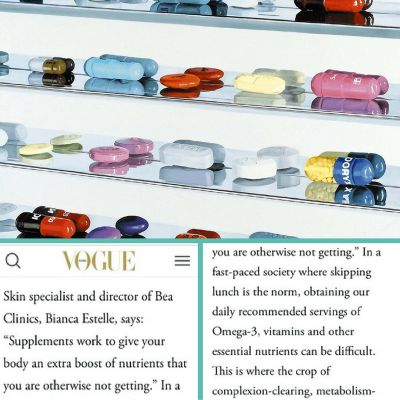 celebrity skincare secrets bea Skin Care featured in Vogue Dubai, December 2016