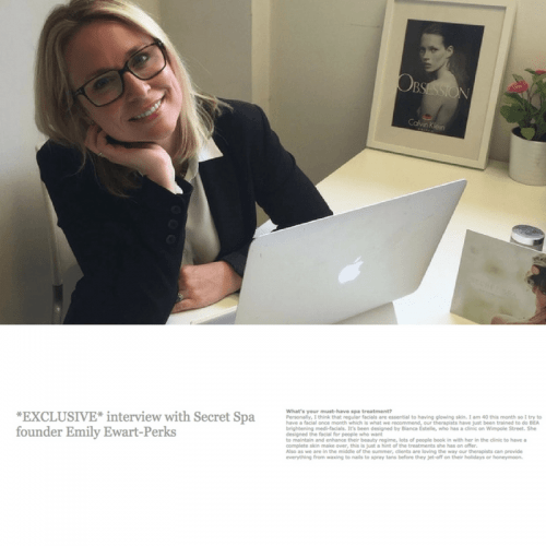 Interview with Secret Spa founder Emily Ewart-Perks