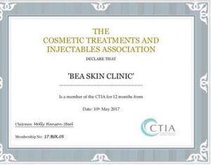beaSkinClinic Certificate