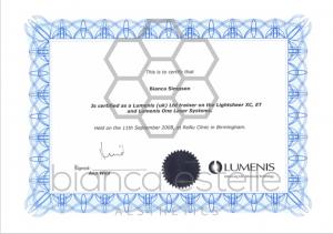 beaSkinClinic Certificate Lumenis