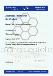 beaSkinClinic Certificate DermalFillers