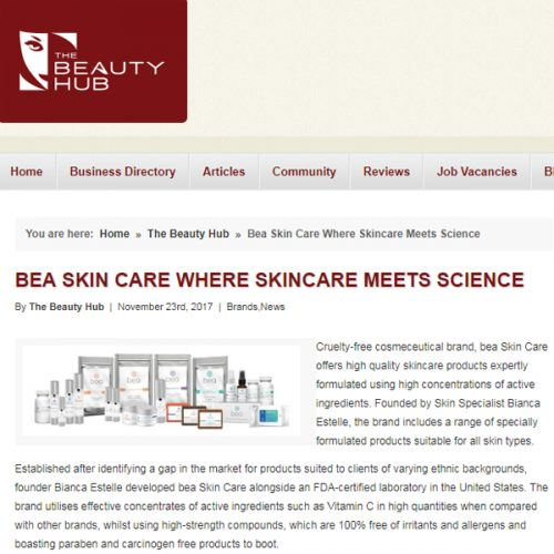 BEA SKIN CARE WHERE SKINCARE MEETS SCIENCE