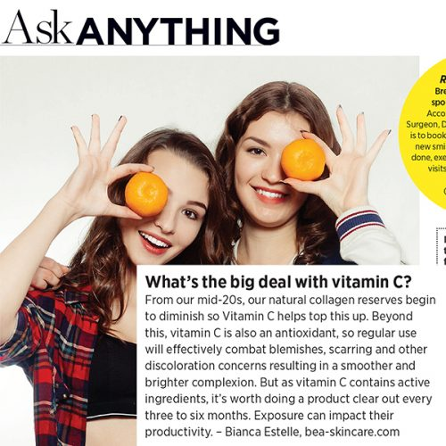 Ask me anything - What's the big deal with Vitamin C